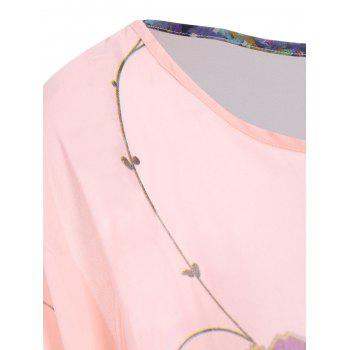 Women's Sweet Batwing Sleeve Loose-Fitting Chiffon Blouse - XL XL