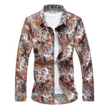 Long Sleeve Button Up Floral Shirt