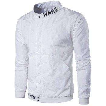 Stand Collar Pocket Embroidered Jacket