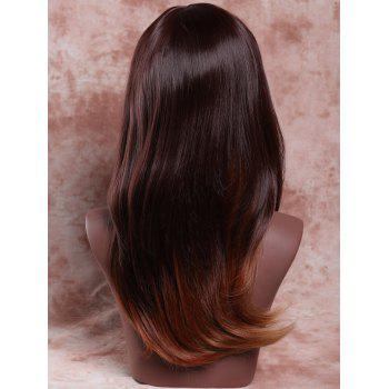 Elegant Women's Long Elegant Side Bang Tail Adduction Mixed Color Synthetic Hair Wig - COLORMIX
