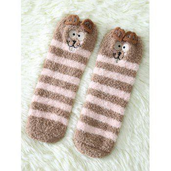Coral Fleece Cartoon Teeth Rat Socks