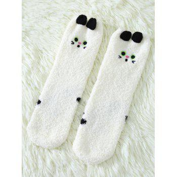 Coral Fleece Cartoon Cat Socks