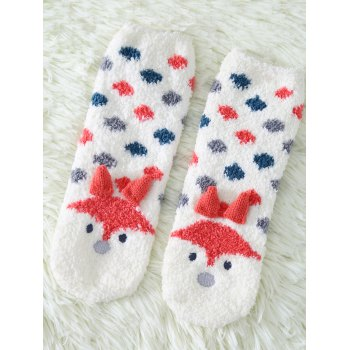 Coral Fleece Cartoon Little Fox Socks