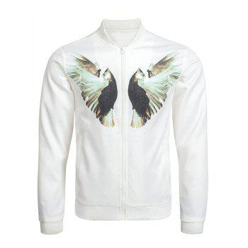 Dove Print Zip Up Bomber Jacket