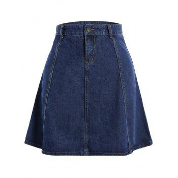 Knee Length Jean Skirt