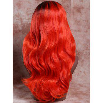 Fluffy Wavy Stylish Long Black Ombre Jacinth Synthetic Adiors Wig For Women - COLORMIX