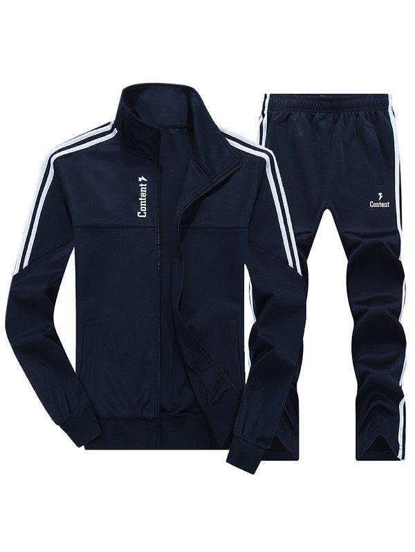 Zip Up Striped Jacket and Sweatpants free shipping 5pcs 216 0683013 in stock