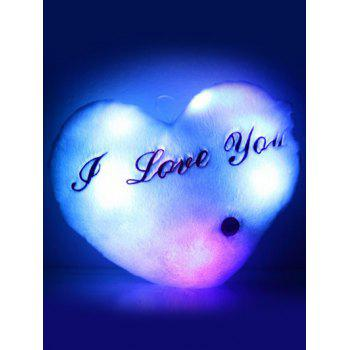 Love You Heart Shape Variable Color Luminescence Pillow