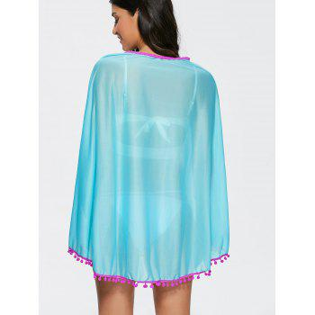 Sexy Women's V-Neck Loose-Fitting Cover-Up - LAKE BLUE ONE SIZE