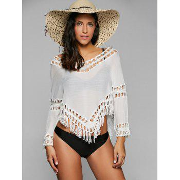 Chic 3/4 Sleeve Off-The-Shoulder Cut Out Women's Cover Up
