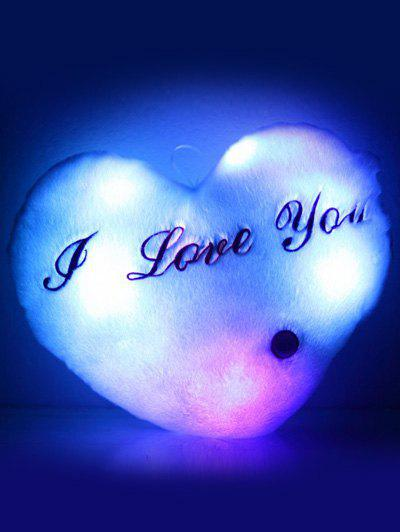 Love You Coeur variable Couleur Luminescence Oreiller - Blanc