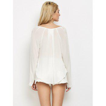 Manches longues Crossover T-shirt - Blanc L