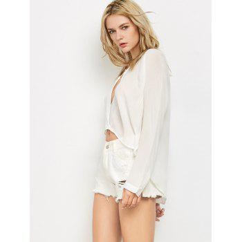 Manches longues Crossover T-shirt - Blanc S
