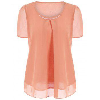 Chiffon Short Sleeve Sheer Top