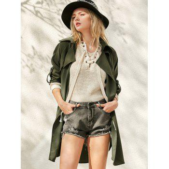 Waterfall Buttoned Trench Coat