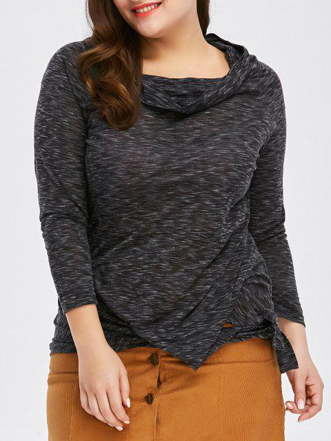 Fashionable Off-The-Shoulder Solid Color Plus Size 3/4 Sleeve Women's T-Shirt