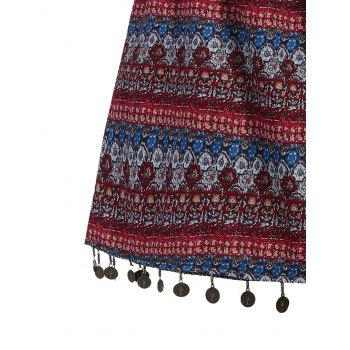 Stylish Wide Leg Ethnic Print Women's Shorts - COLORMIX M