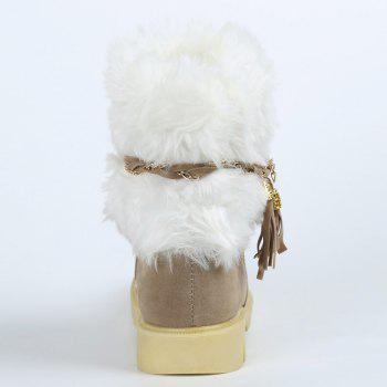 Cute Plush and Tassels Design Snow Boots For Women - APRICOT 37