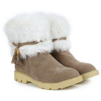 Cute Plush and Tassels Design Snow Boots For Women