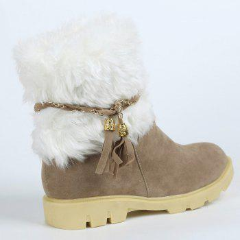 Cute Plush and Tassels Design Snow Boots For Women - 39 39