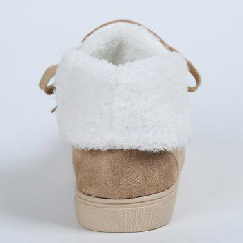 Ankle Boots with Fur Lined - KHAKI 35