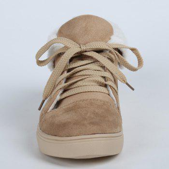 Ankle Boots with Fur Lined - KHAKI 37
