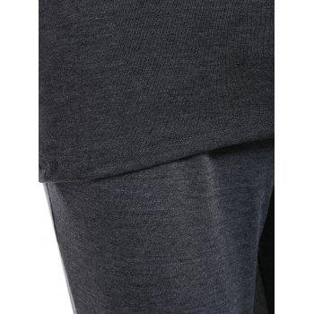 Active Cami Top With Drawstring Pants With Hoodie - GRAY S