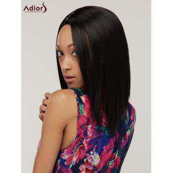 Women's Side Bang Bob Straight Heat Resistant Synthetic Wig - BLACK