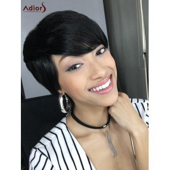 Short Capless Straight Side Bang Heat Resistant Synthetic Wig