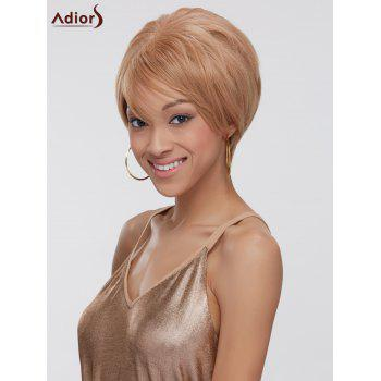 Short Side Bang Fluffy Straight Double Color Synthetic Capless Wig - COLORMIX