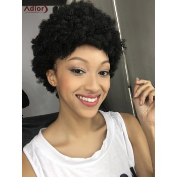 Spiffy Capless Short Curly Synthetic Wig