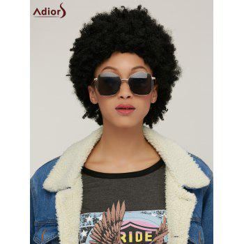 Spiffy Capless Short Afro Curly Synthetic Wig - BLACK