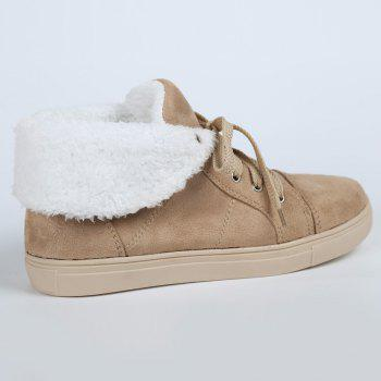 Ankle Boots with Fur Lined - KHAKI 38