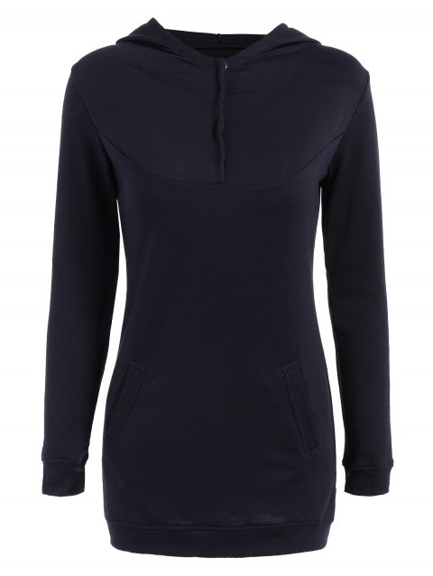 Trendy Hooded Long Sleeve Solid Color Hoodie For Women