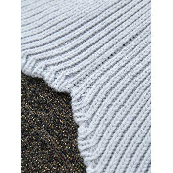 High Quality Solid Color Sequins Knitting Rhombus Design Mermaid Tail Blanket - GRAY