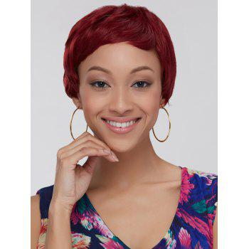 Women's Ultrashort Wine Red Ombre Synthetic Hair Wig - COLORMIX COLORMIX