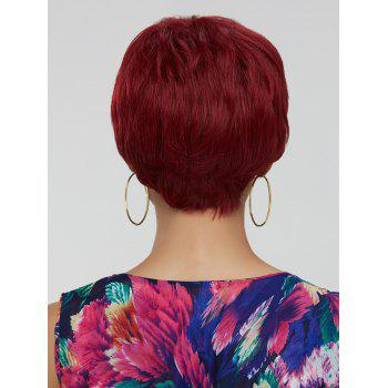 Women's Ultrashort Wine Red Ombre Synthetic Hair Wig -  COLORMIX