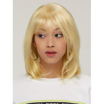 Short Golden Mixed Layered Straight Side Bang Synthetic Hair Wig - COLORMIX COLORMIX