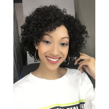 Short Side Bang Afro Curly Synthetic Wig