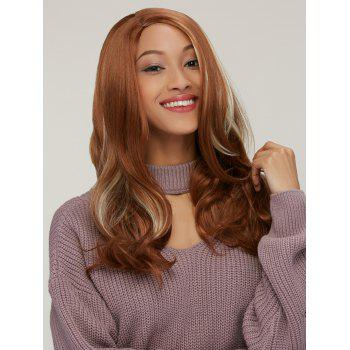 Synthetic Long Wavy Side Parting Colormix Wig - COLORMIX
