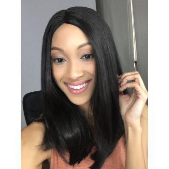 Synthetic Medium Side Parting Straight Wig