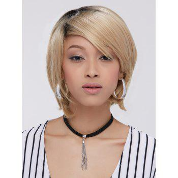 Short Straight Side Bang Bob Synthetic Capless Wig