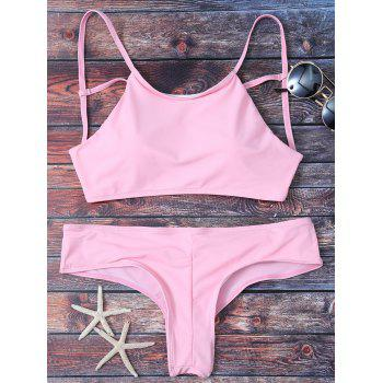 Cute Criss Cross Padded Bikini Bathing Suit