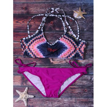 Colormix Bikini Set Swimwear For Women - ROSE M