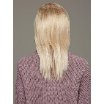 Graceful Long Side Bang Straight Mixed Color Synthetic Hair Wig - COLORMIX