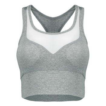 Casual Tanks Yarn Patch Sport Racerback - Gris M