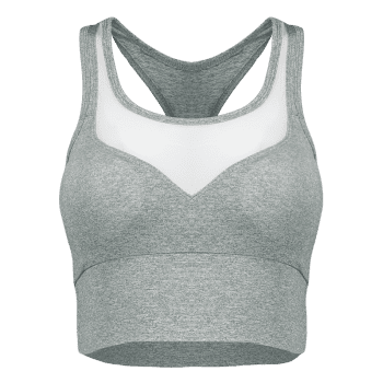 Casual Yarn Patch Sport Racerback Tanks - GRAY S