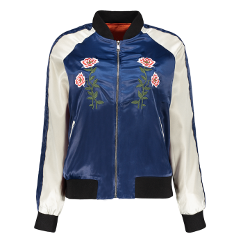 Floral Embroidered Sporty Jacket
