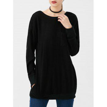 Oversized Pockets Long Sleeve Top