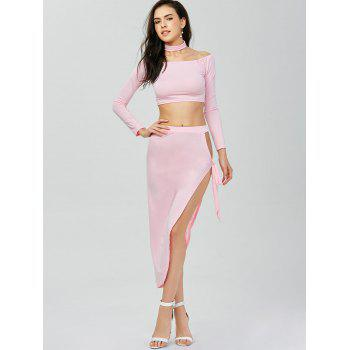 High Slit Two Piece Dress - M M
